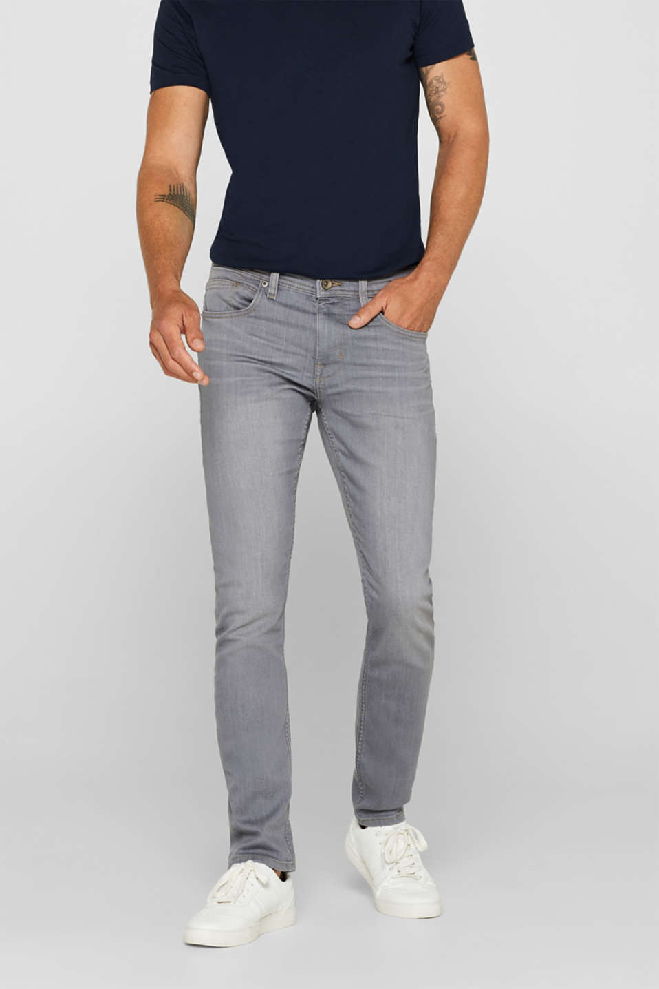 Esprit - Jeans met superstretch en COOLMAX®