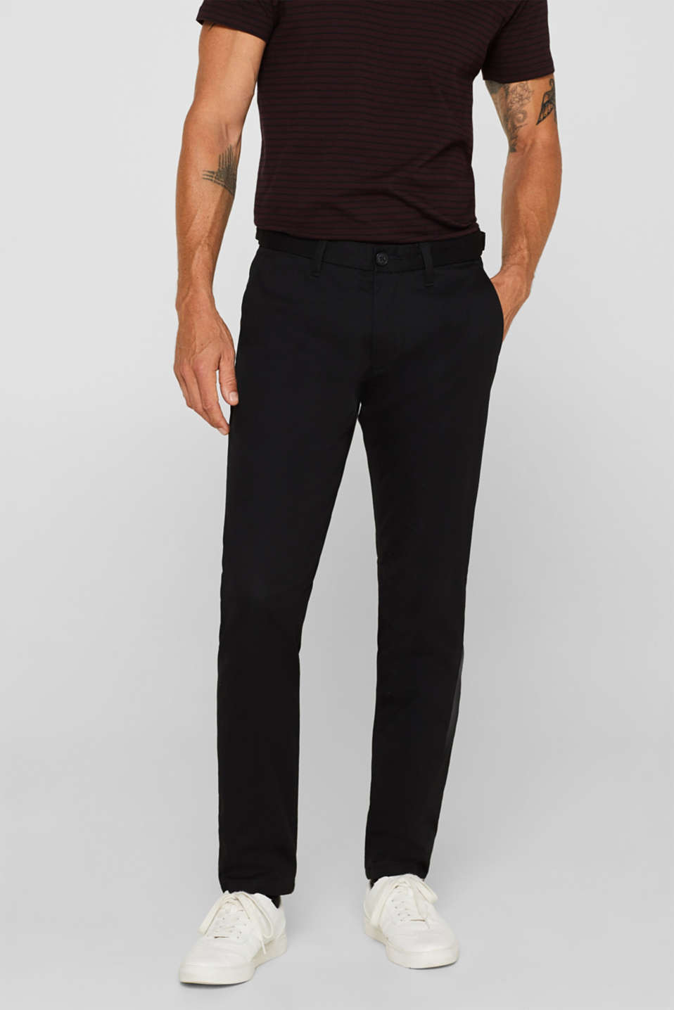 Esprit - Pants aus Baumwoll-Stretch