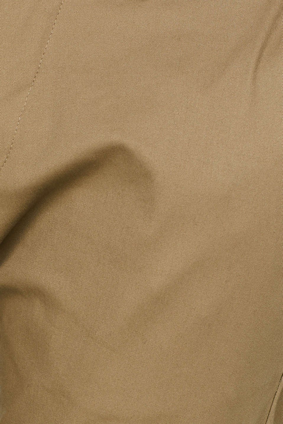 Stretch cotton trousers, BEIGE, detail image number 4