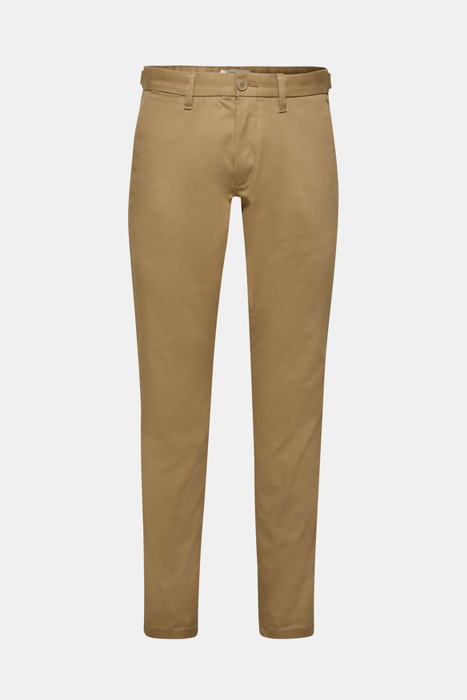 Stretch cotton trousers, BEIGE, detail image number 6