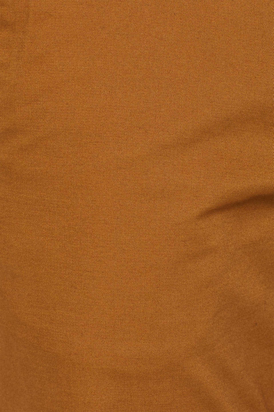 Chinos with stretch and organic cotton, CAMEL, detail image number 4