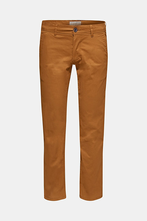 Chinos with stretch and organic cotton
