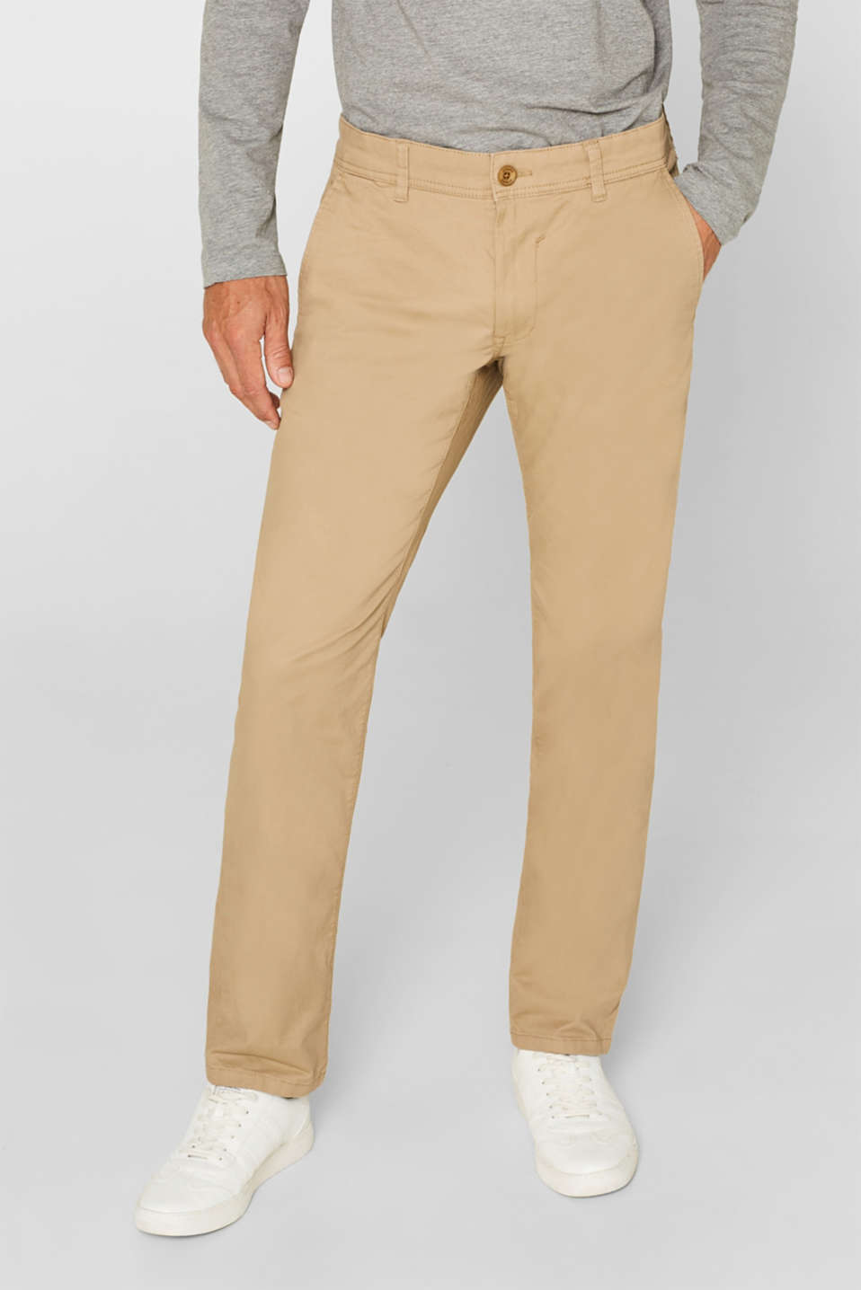Esprit - Chino mit Stretch und Organic Cotton