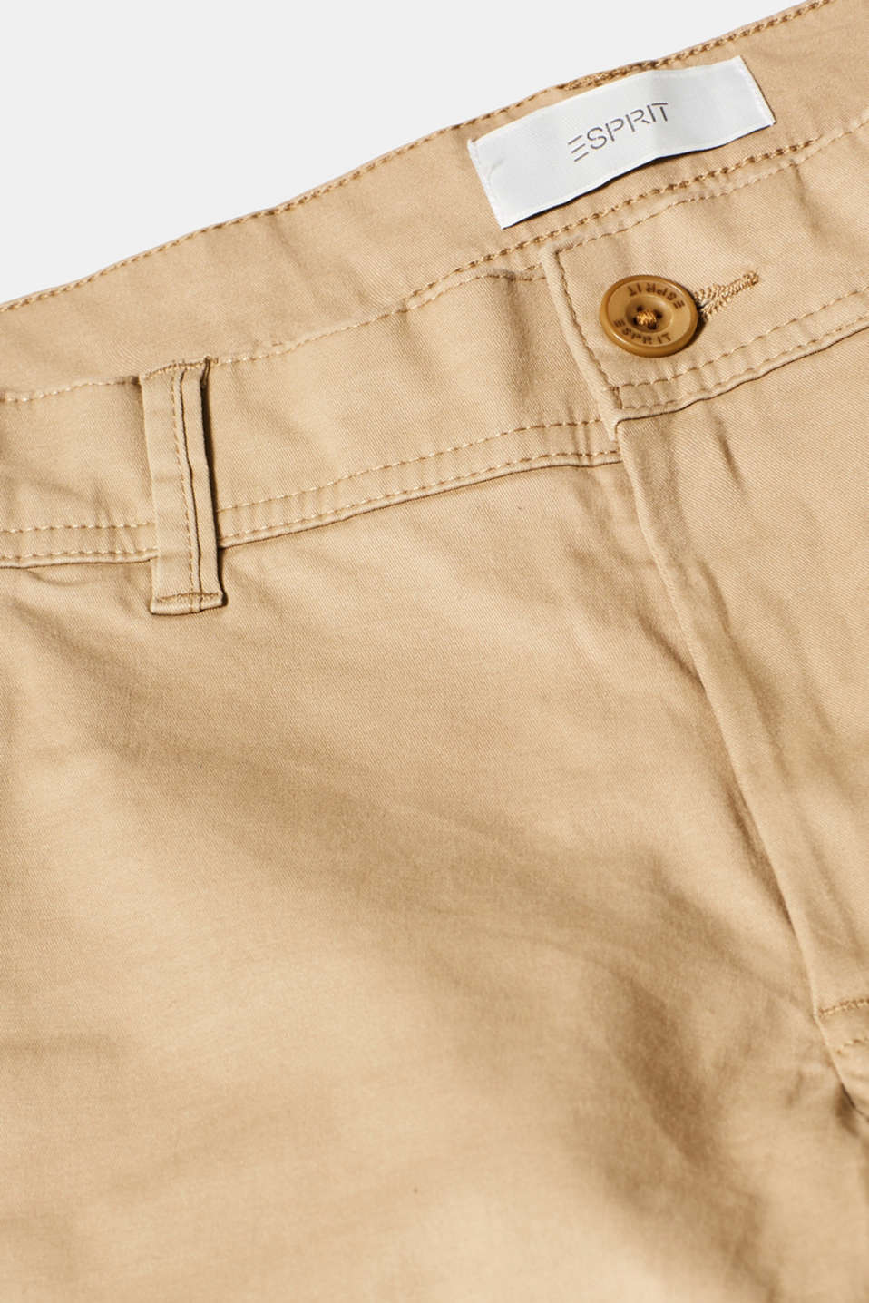 Chinos with stretch and organic cotton, BEIGE, detail image number 4
