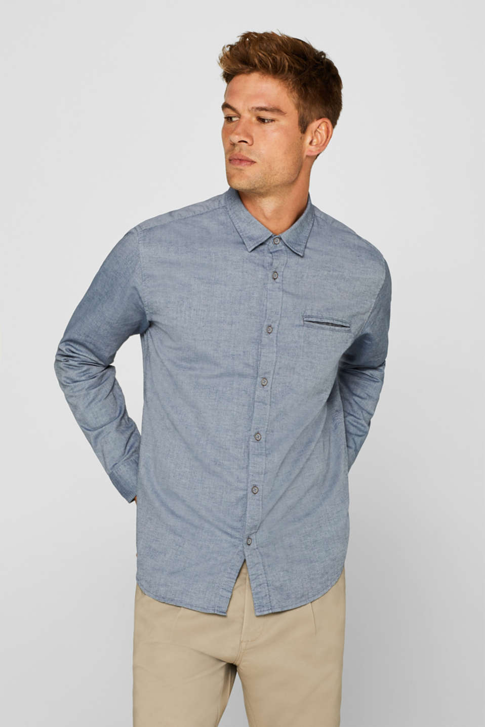 Shirts woven Slim fit, NAVY, detail image number 0