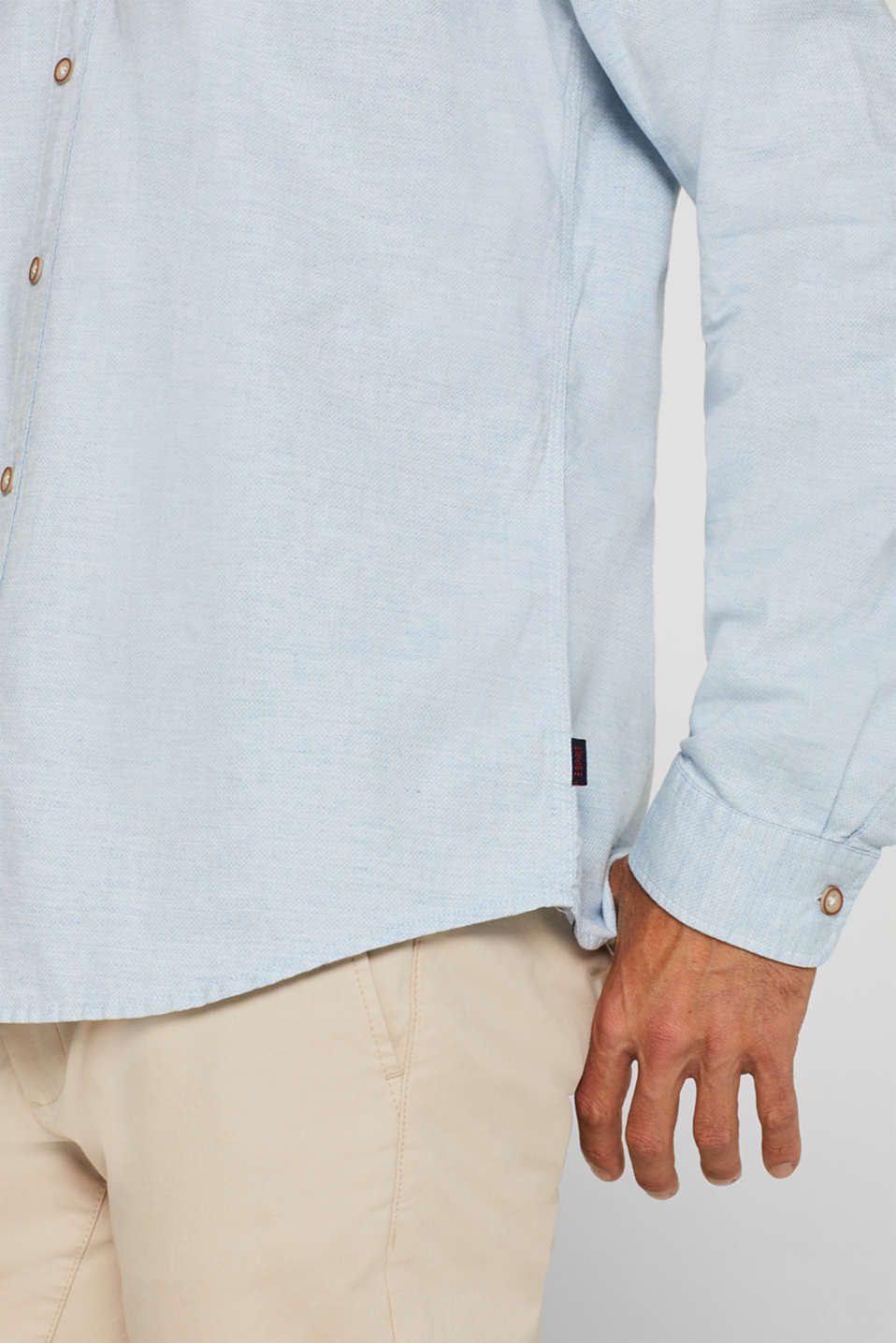 Shirts woven Slim fit, LIGHT BLUE, detail image number 5