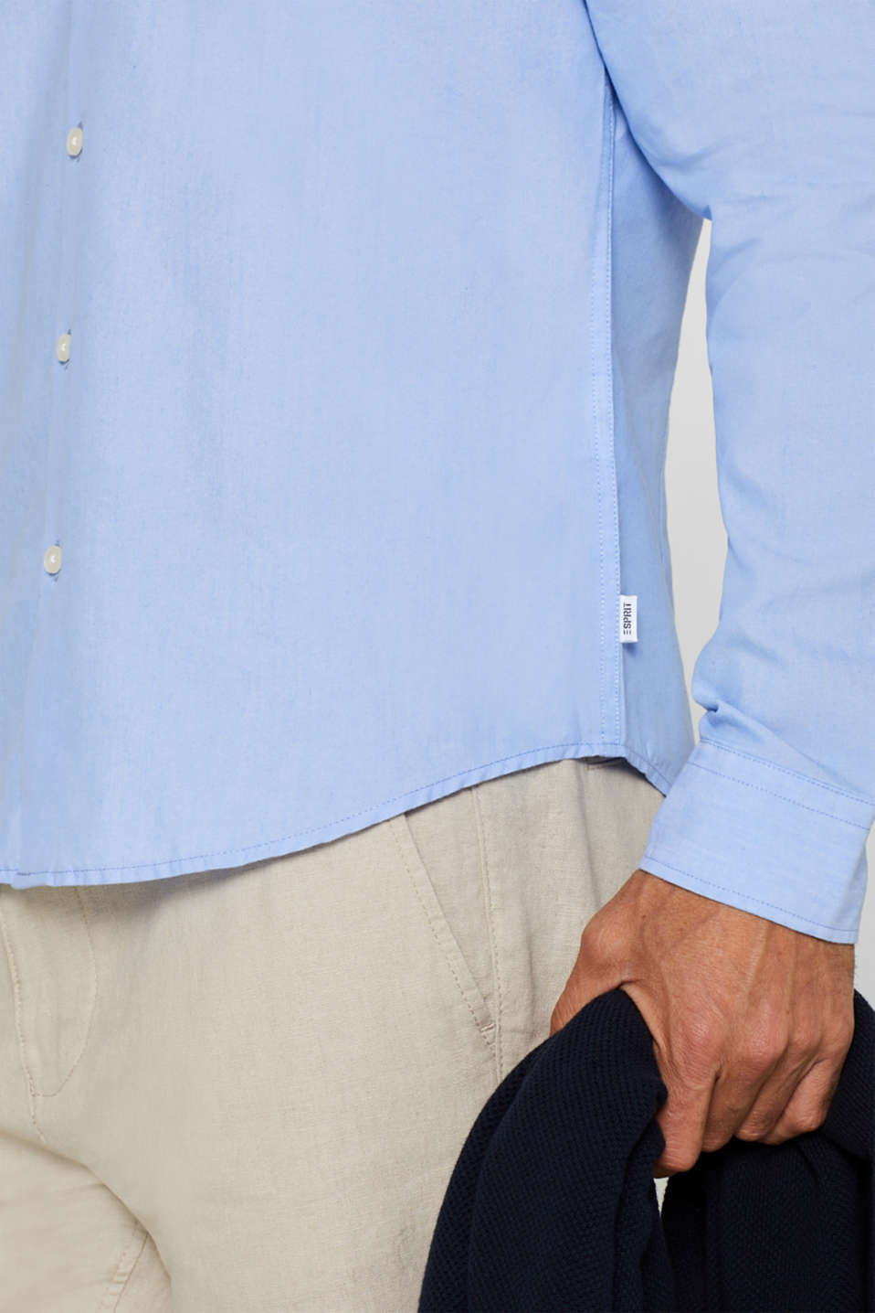 Shirts woven Slim fit, LIGHT BLUE, detail image number 2