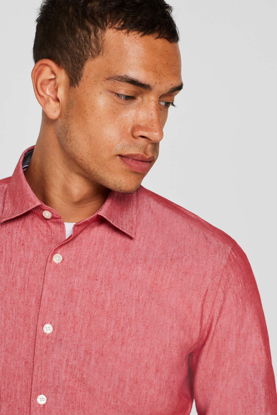 Shirts woven Slim fit, RED, detail image number 5