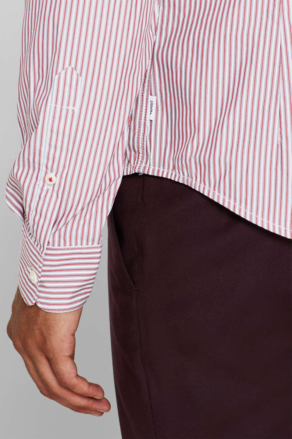 Shirts woven Slim fit, RED, detail image number 2