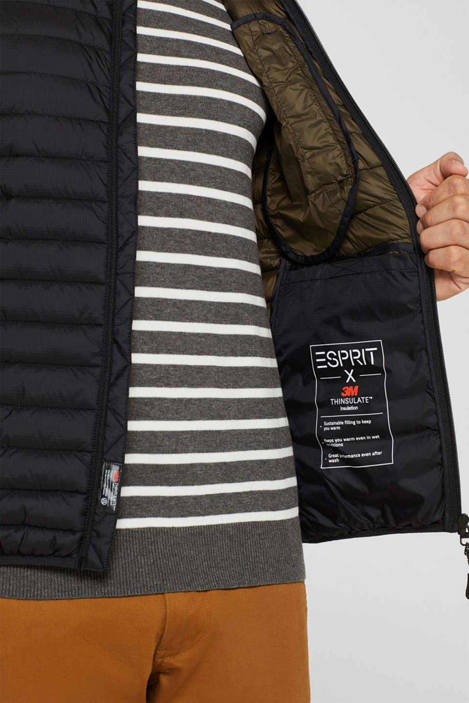 Vests outdoor woven, BLACK, detail image number 2