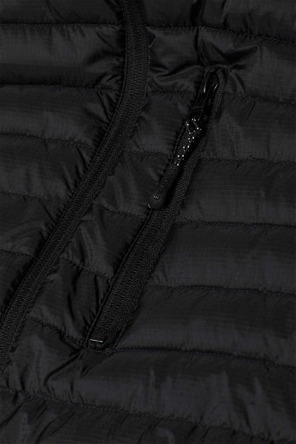Vests outdoor woven, BLACK, detail image number 4