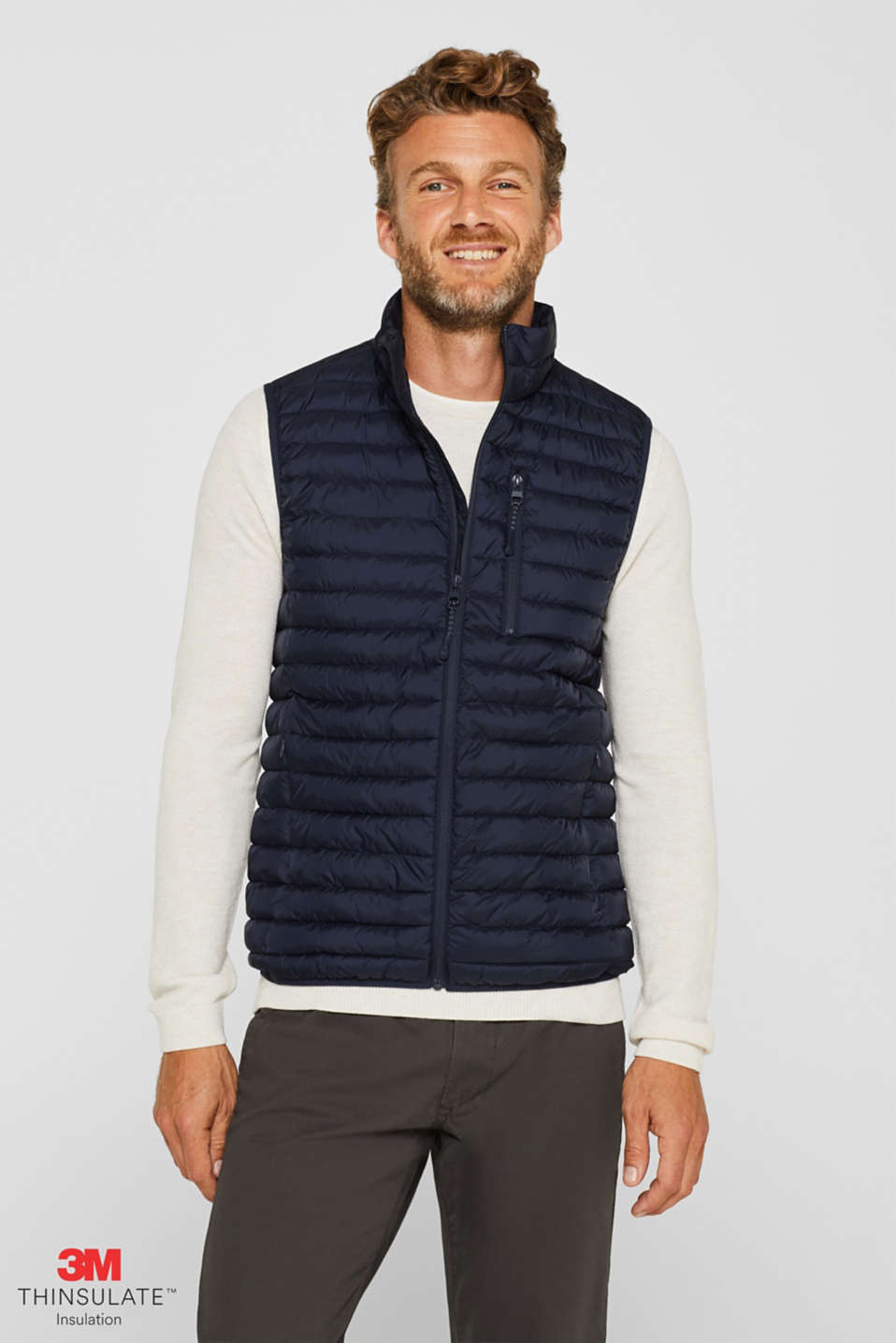 Esprit - Quilted bodywarmer with 3M® Thinsulate® filling