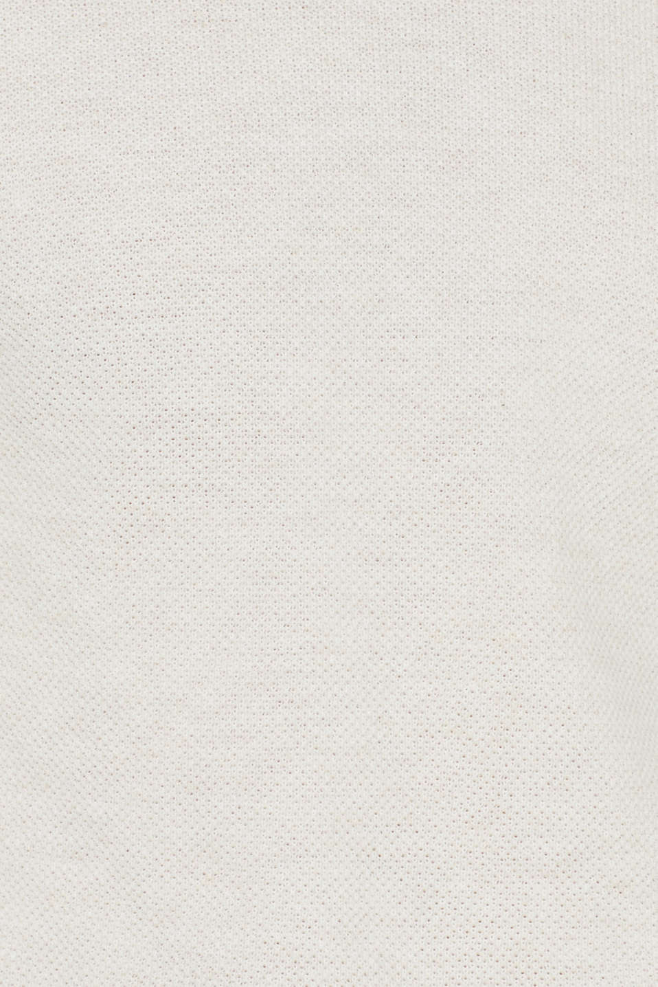 Textured jumper in 100% cotton, OFF WHITE, detail image number 4