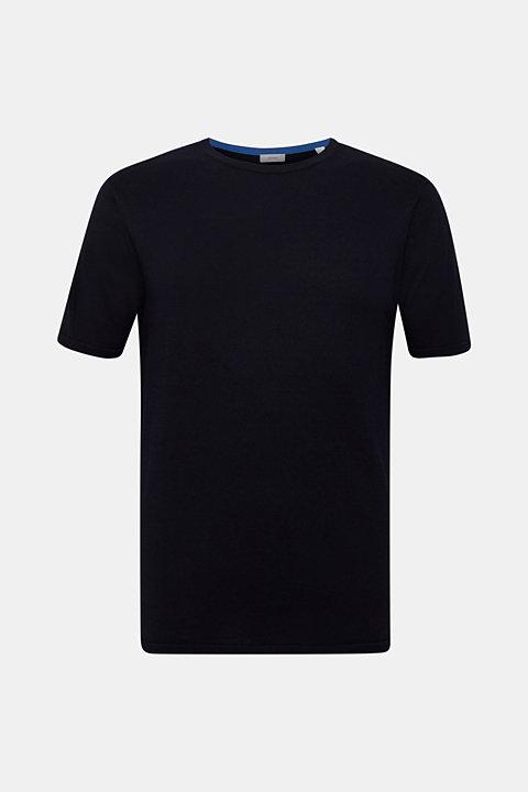 Short-sleeved jumper made of 100% pima cotton