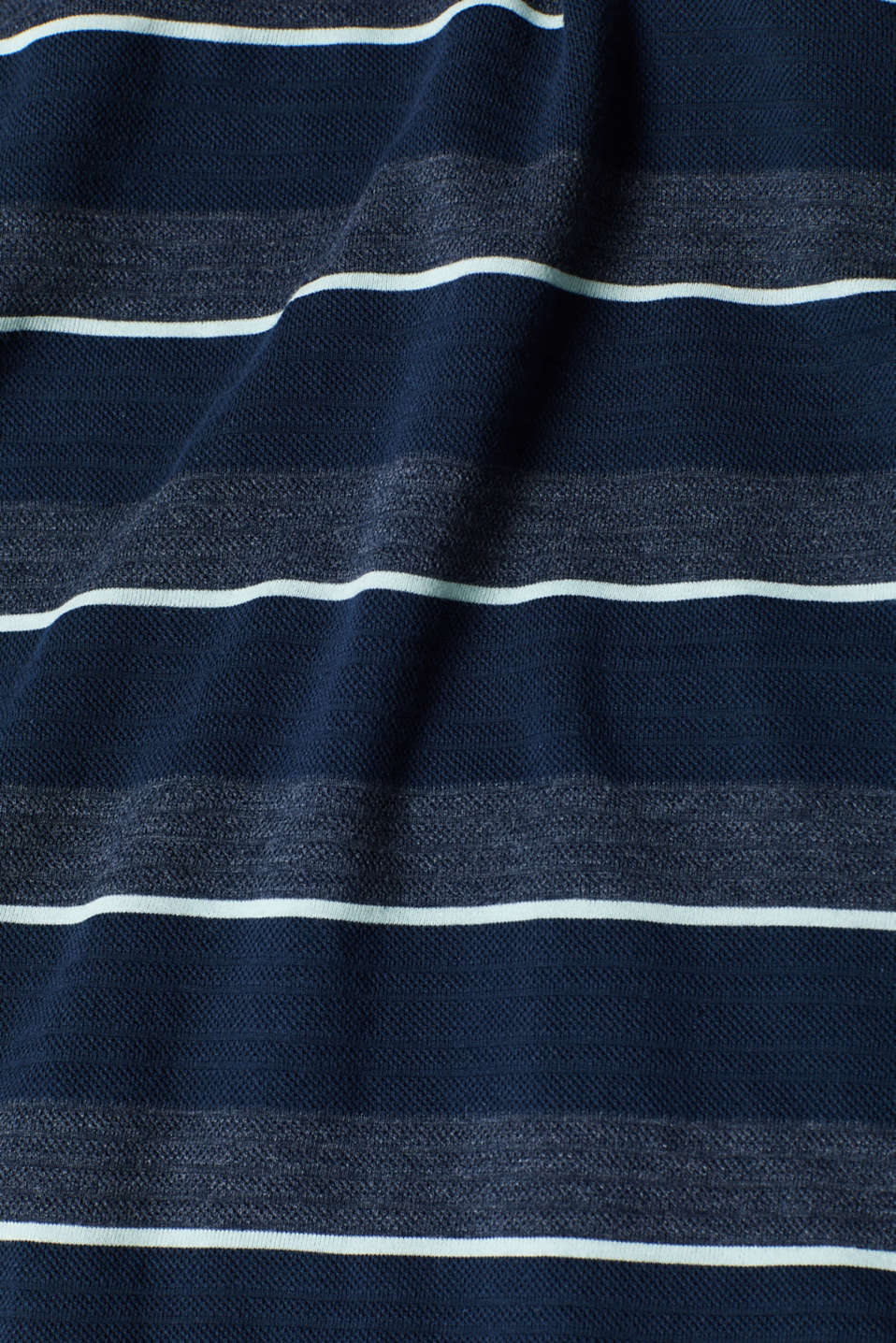 Jersey T-shirt with textured stripes, NAVY, detail image number 4
