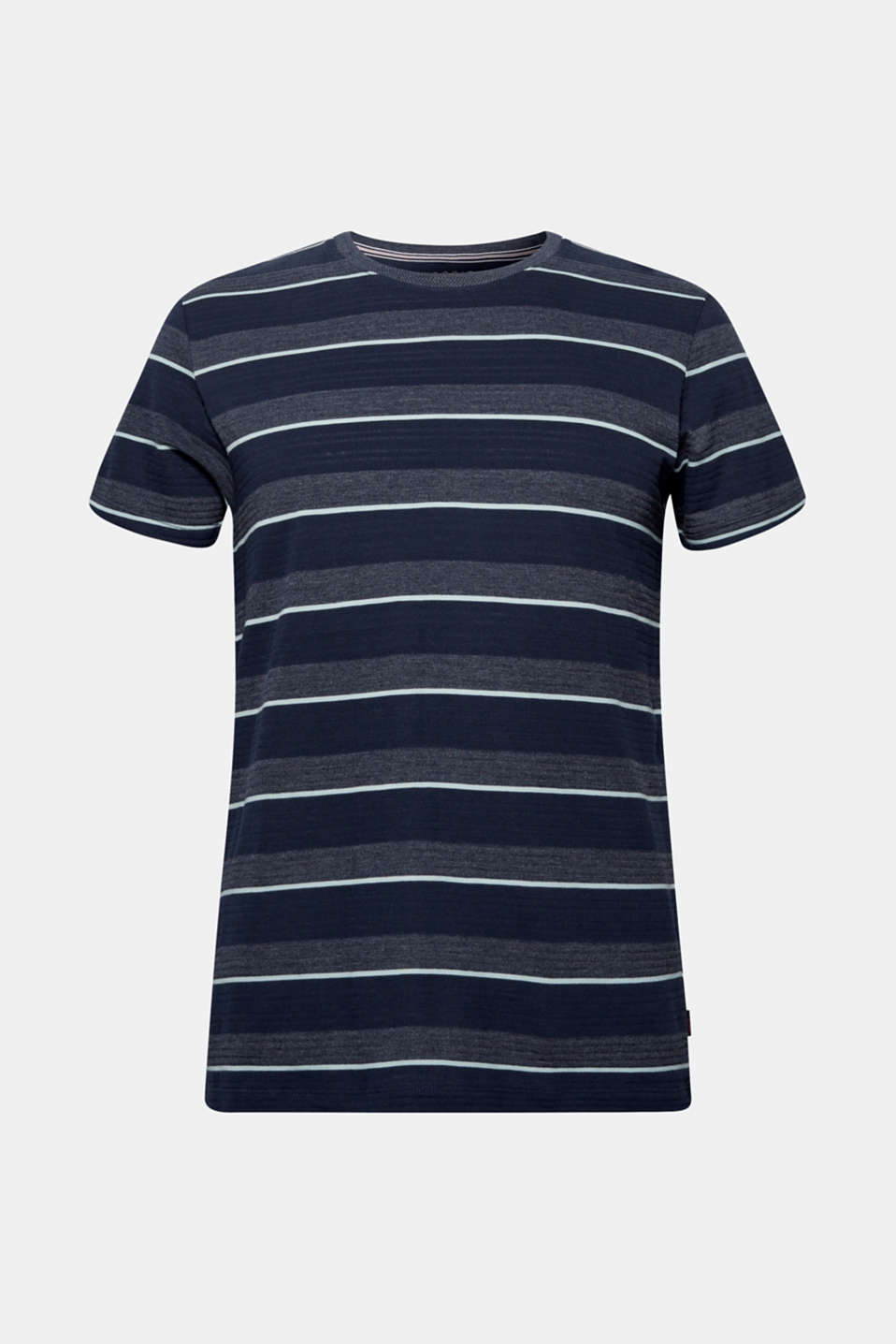 Jersey T-shirt with textured stripes, NAVY, detail image number 6