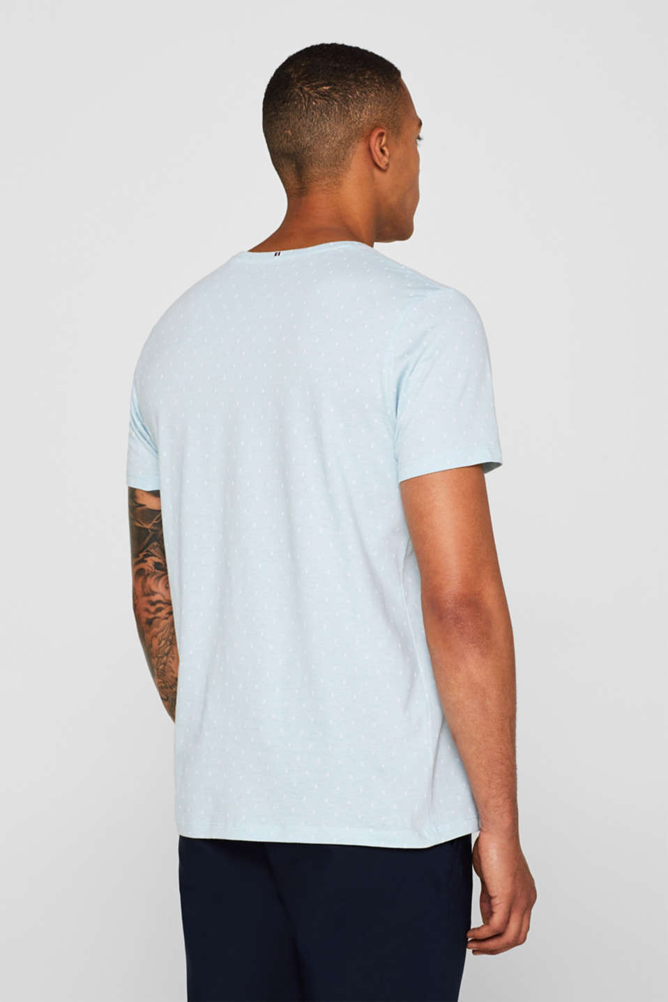 Jersey top with an all-over print, 100% cotton, LIGHT BLUE, detail image number 3