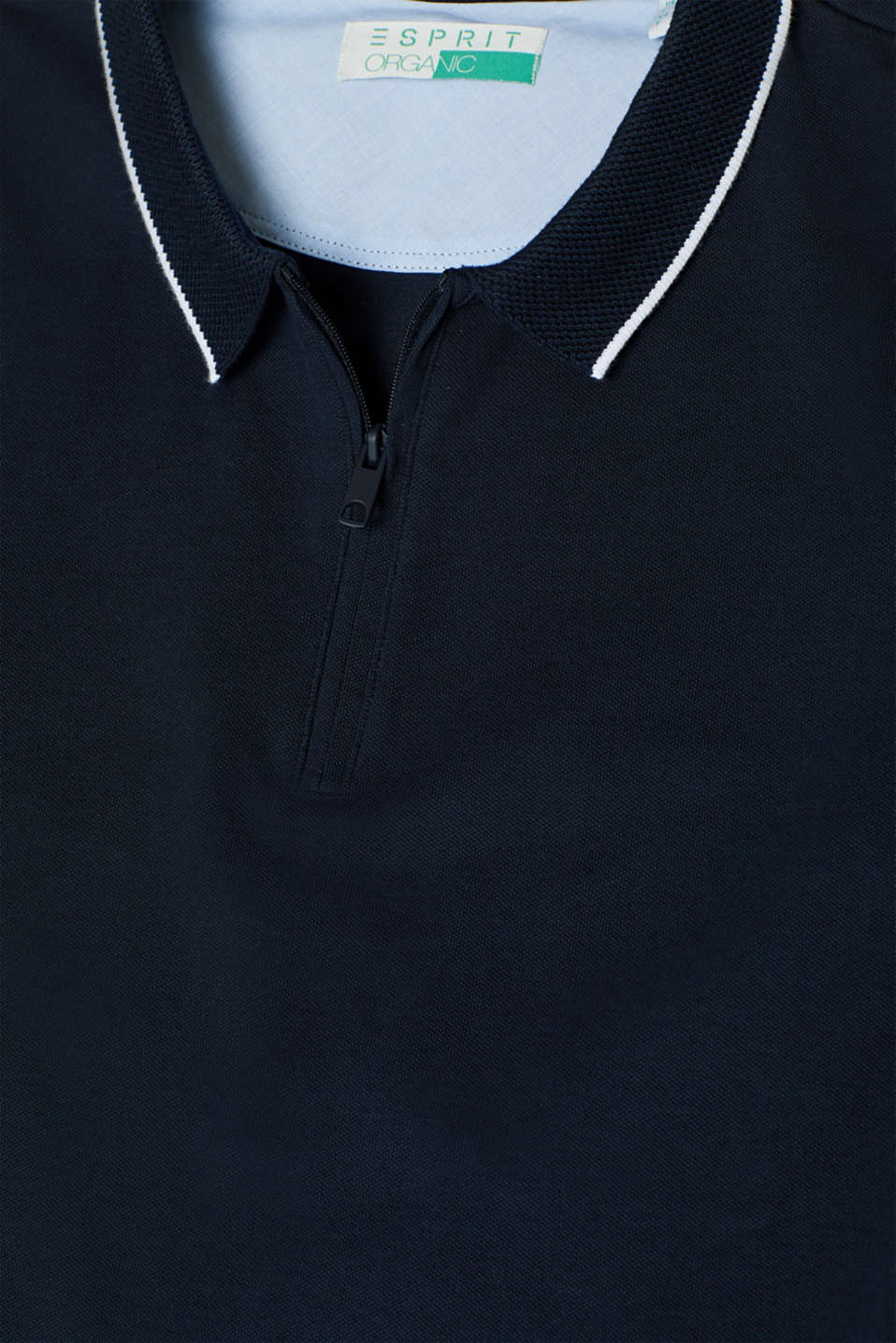 Piqué polo shirt with organic cotton, NAVY, detail image number 4