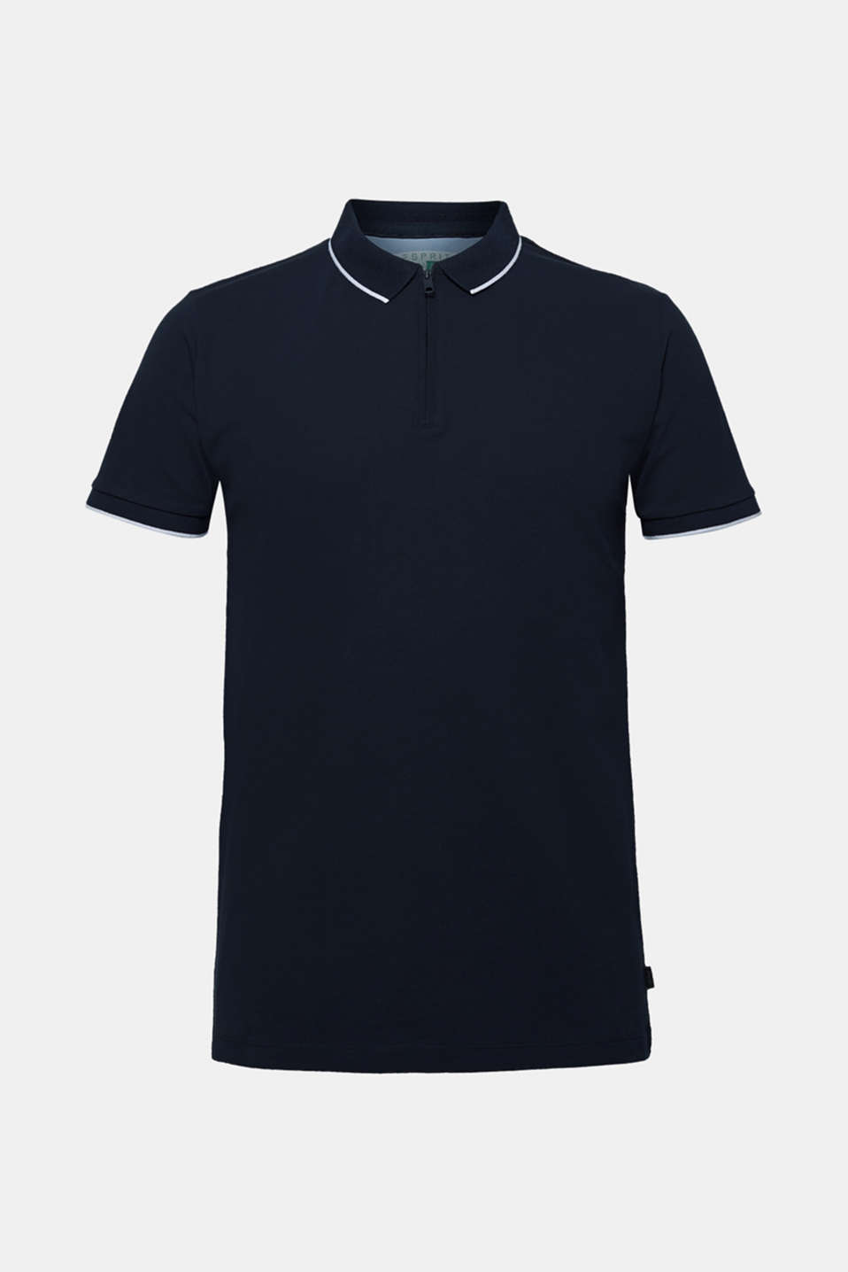 Piqué polo shirt with organic cotton, NAVY, detail image number 6