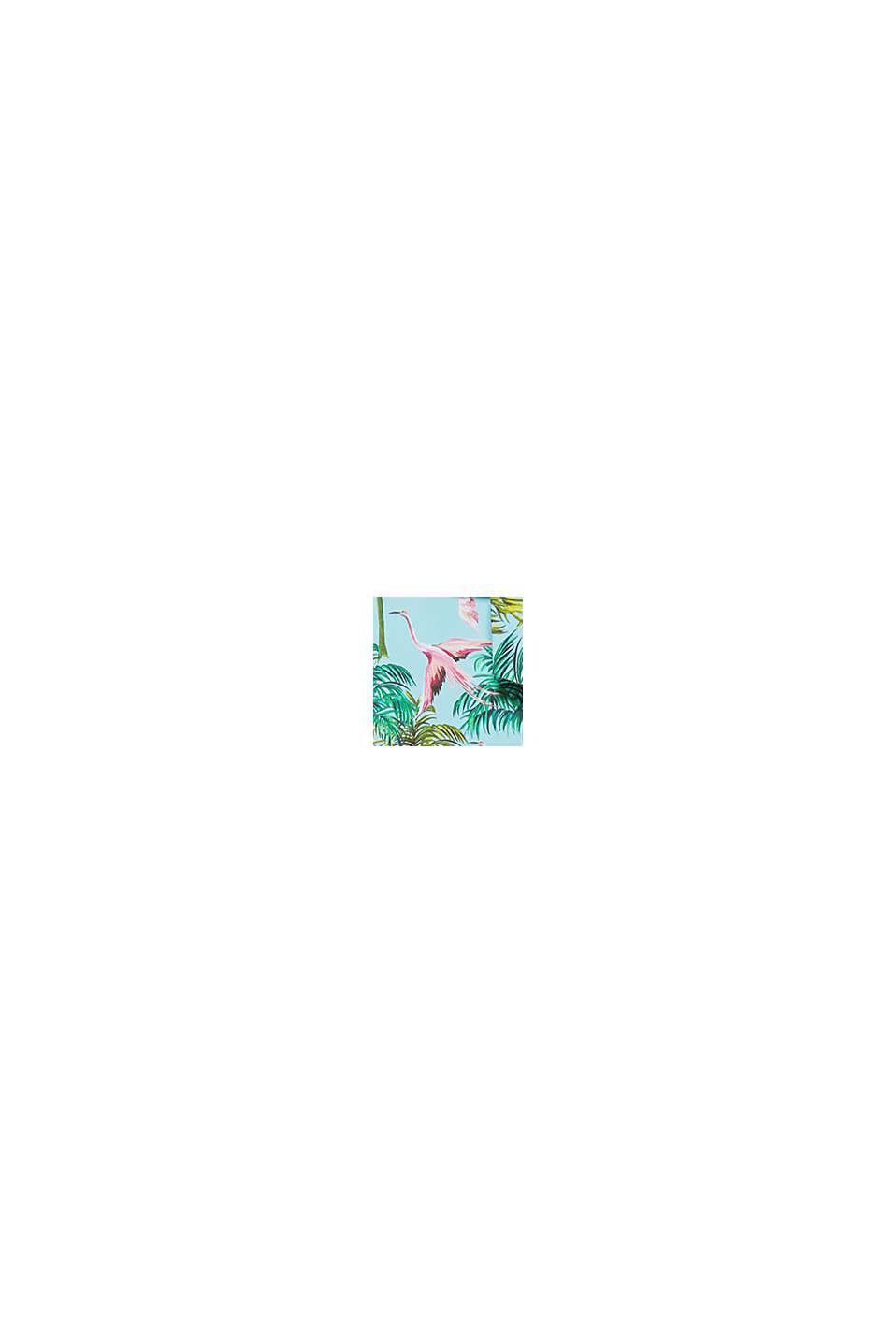 High-Waist-Slip mit Flamingo-Print, TURQUOISE, swatch