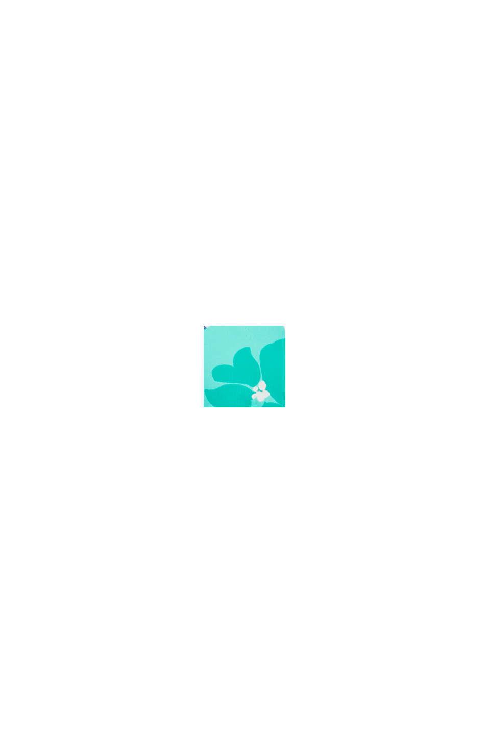 Top de aros sin relleno con estampado de flores, PINK FUCHSIA, swatch