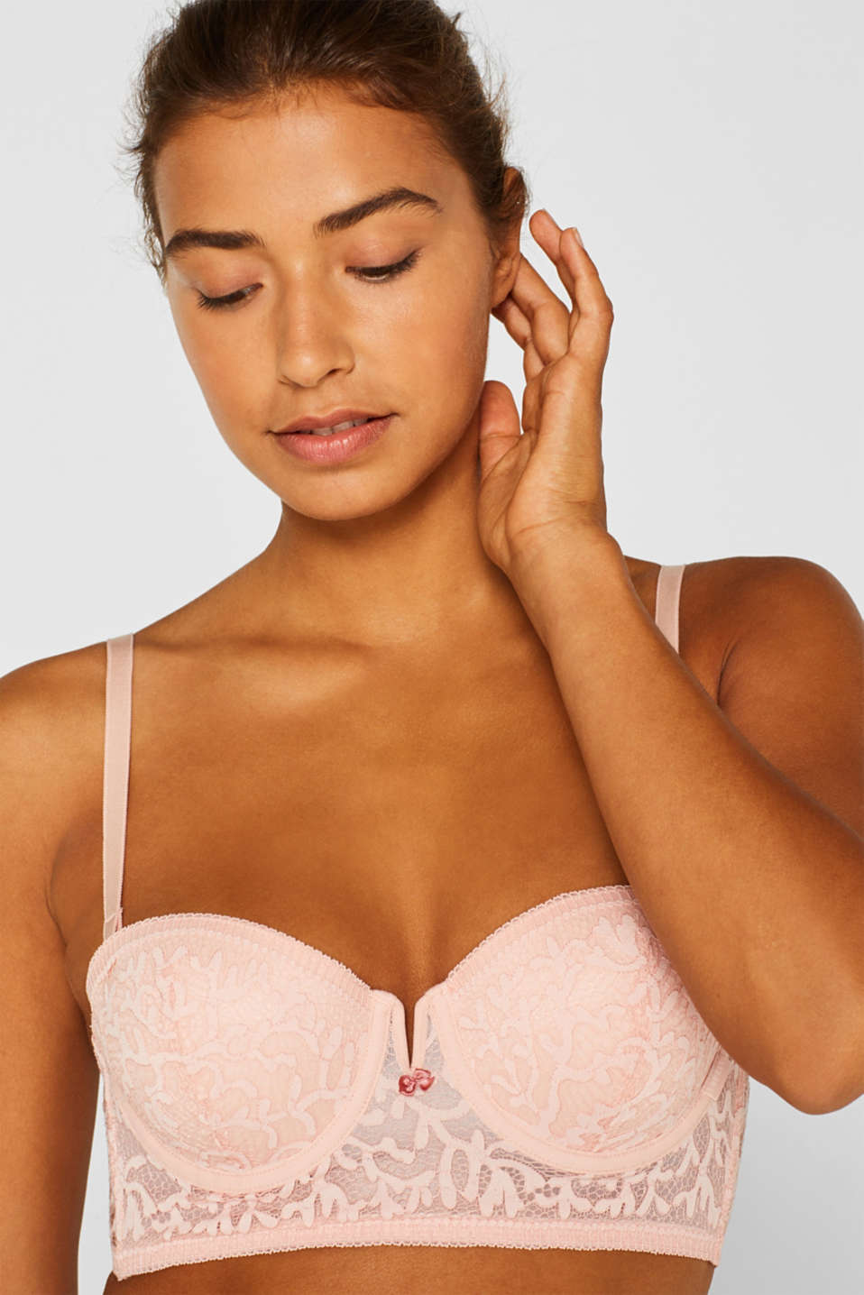 Padded underwire bra with detachable straps, NUDE, detail image number 0