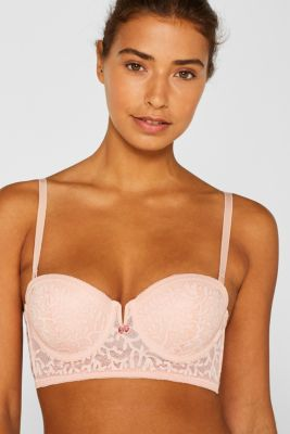 Padded underwire bra with detachable straps, NUDE, detail