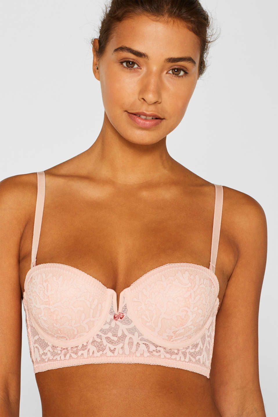 Padded underwire bra with detachable straps, NUDE, detail image number 3