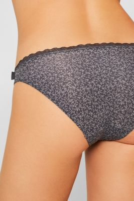 Hipster briefs with print and lace, ANTHRACITE, detail