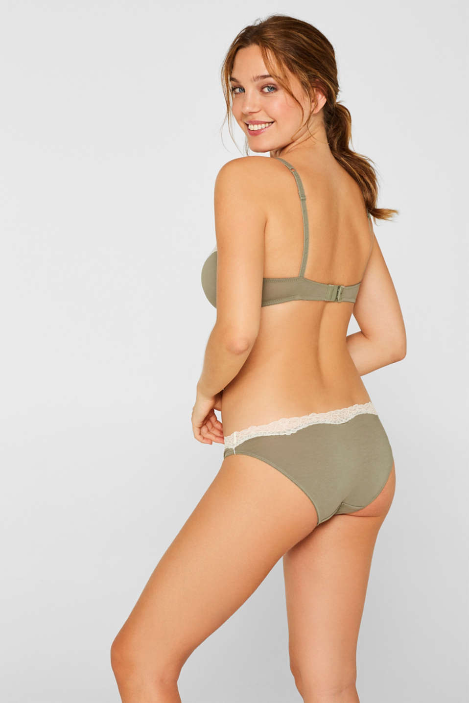 Bras with wire, LIGHT KHAKI, detail image number 1