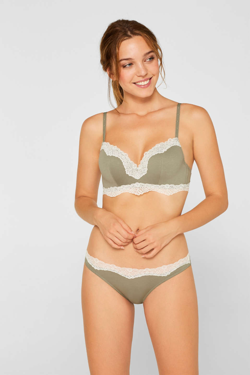 Padded bra with concealed underwire, LIGHT KHAKI, detail image number 0