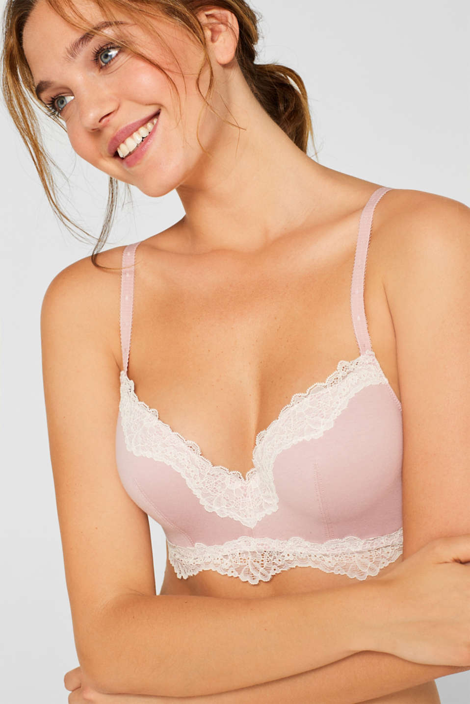 Bras with wire, OLD PINK, detail image number 0
