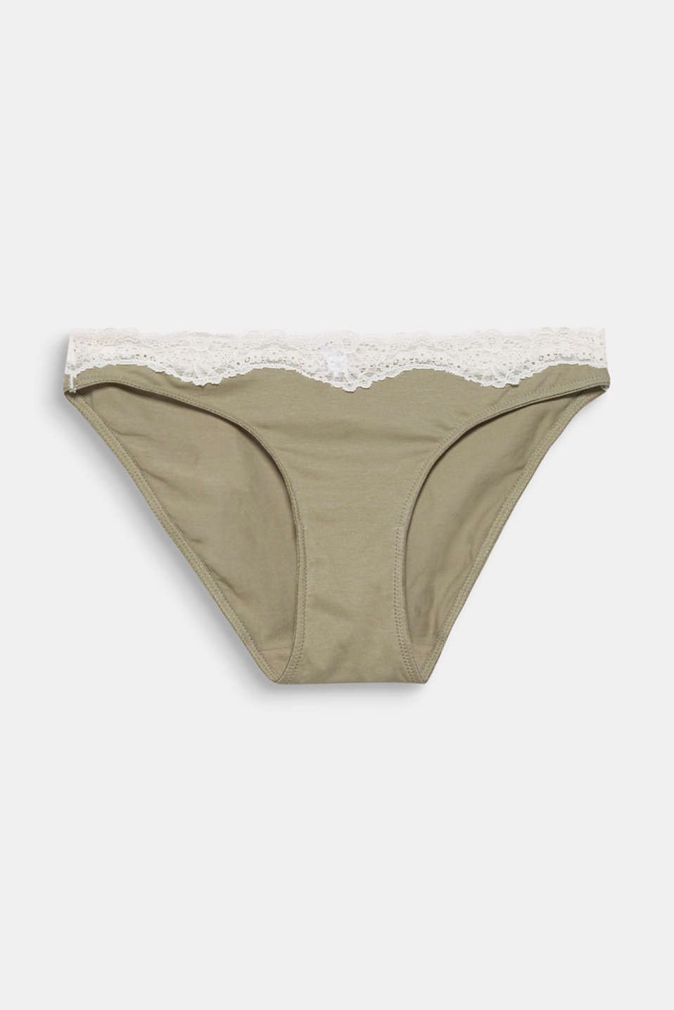 Hipster briefs made of blended cotton with lace, LIGHT KHAKI, detail image number 4