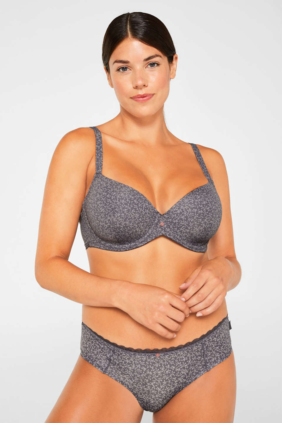 Esprit - Padded underwire bra with a tendril print