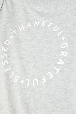 Melange jersey nightshirt with statement print