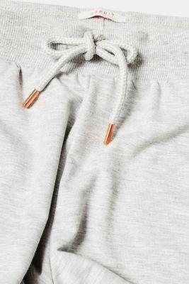 Melange jersey shorts