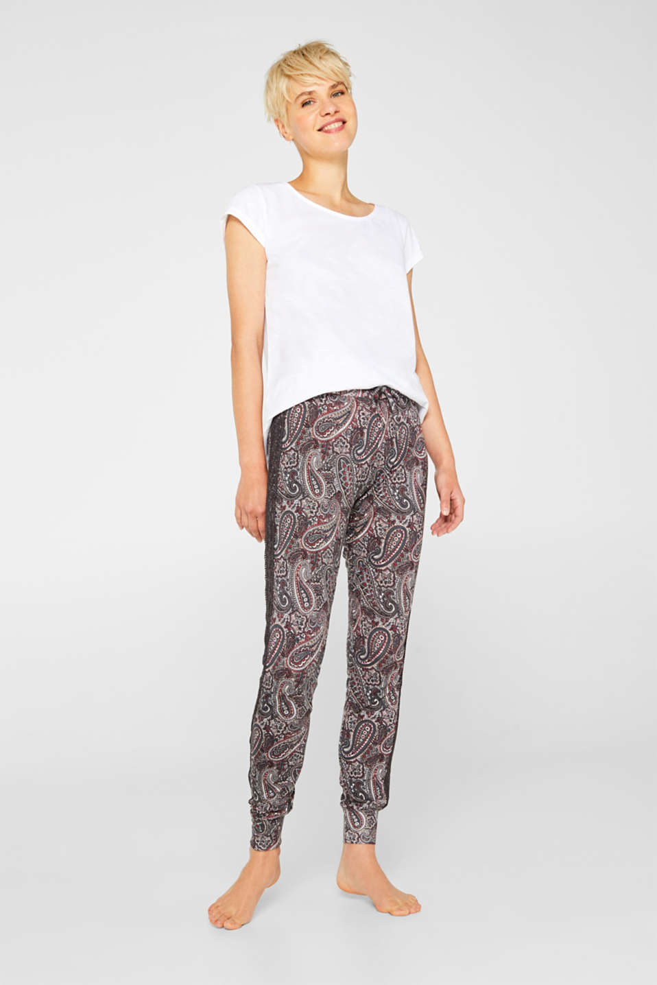 Esprit - Pyjama bottoms with a paisley print