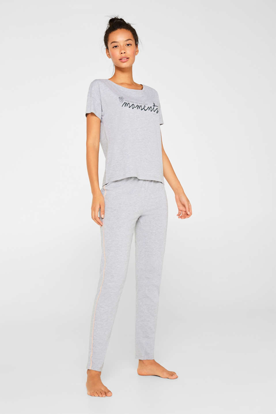 Night-T-Shirts, LIGHT GREY, detail image number 0