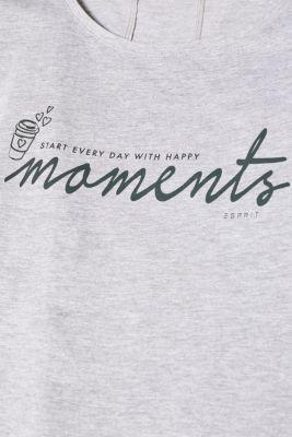 Melange T-shirt with a statement print