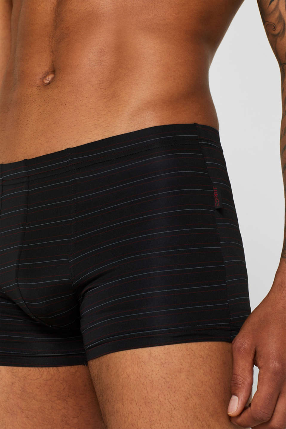 Double pack of smooth stretch jersey shorts, BLACK, detail image number 2