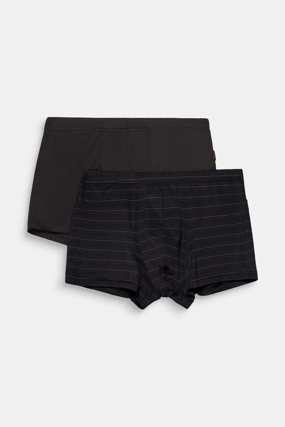 Double pack of smooth stretch jersey shorts, BLACK, detail image number 3