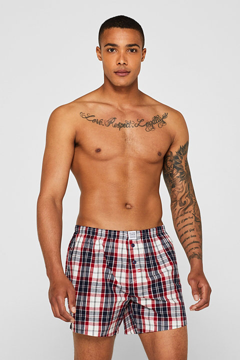 Boxer shorts in a double pack, 100% cotton