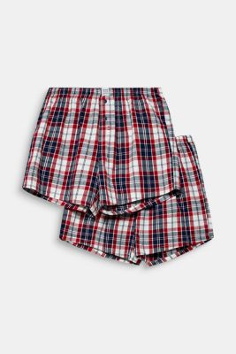 Boxer shorts in a double pack, 100% cotton, RED, detail