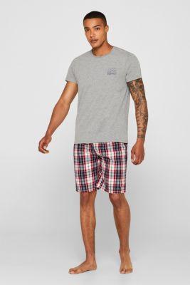 Jersey and fabric pyjamas, RED, detail