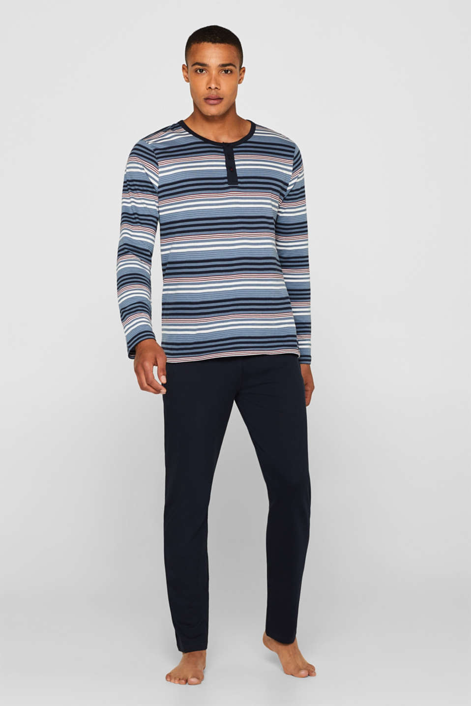 Esprit - Striped jersey pyjamas, 100% cotton