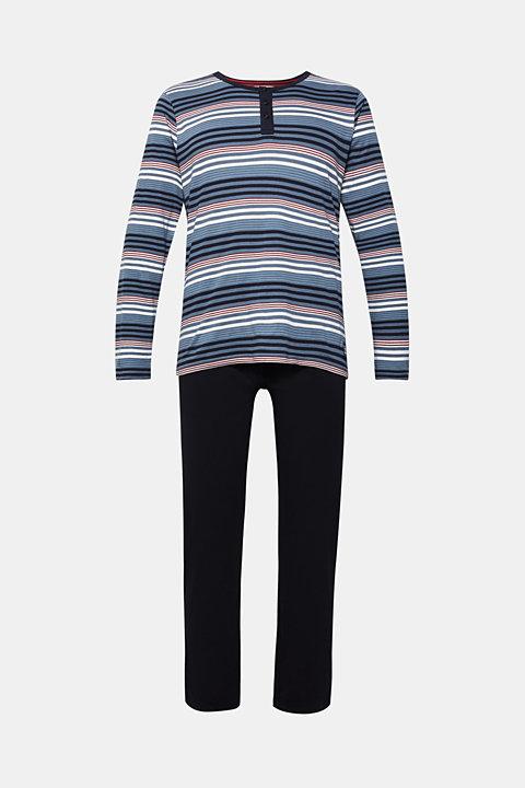 Striped jersey pyjamas, 100% cotton