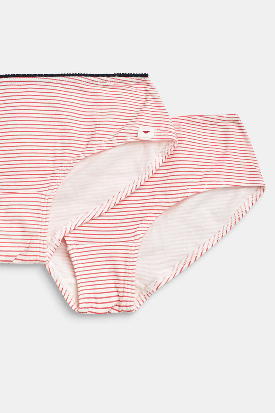 Double pack of shorts with a striped print, BERRY RED, detail image number 1