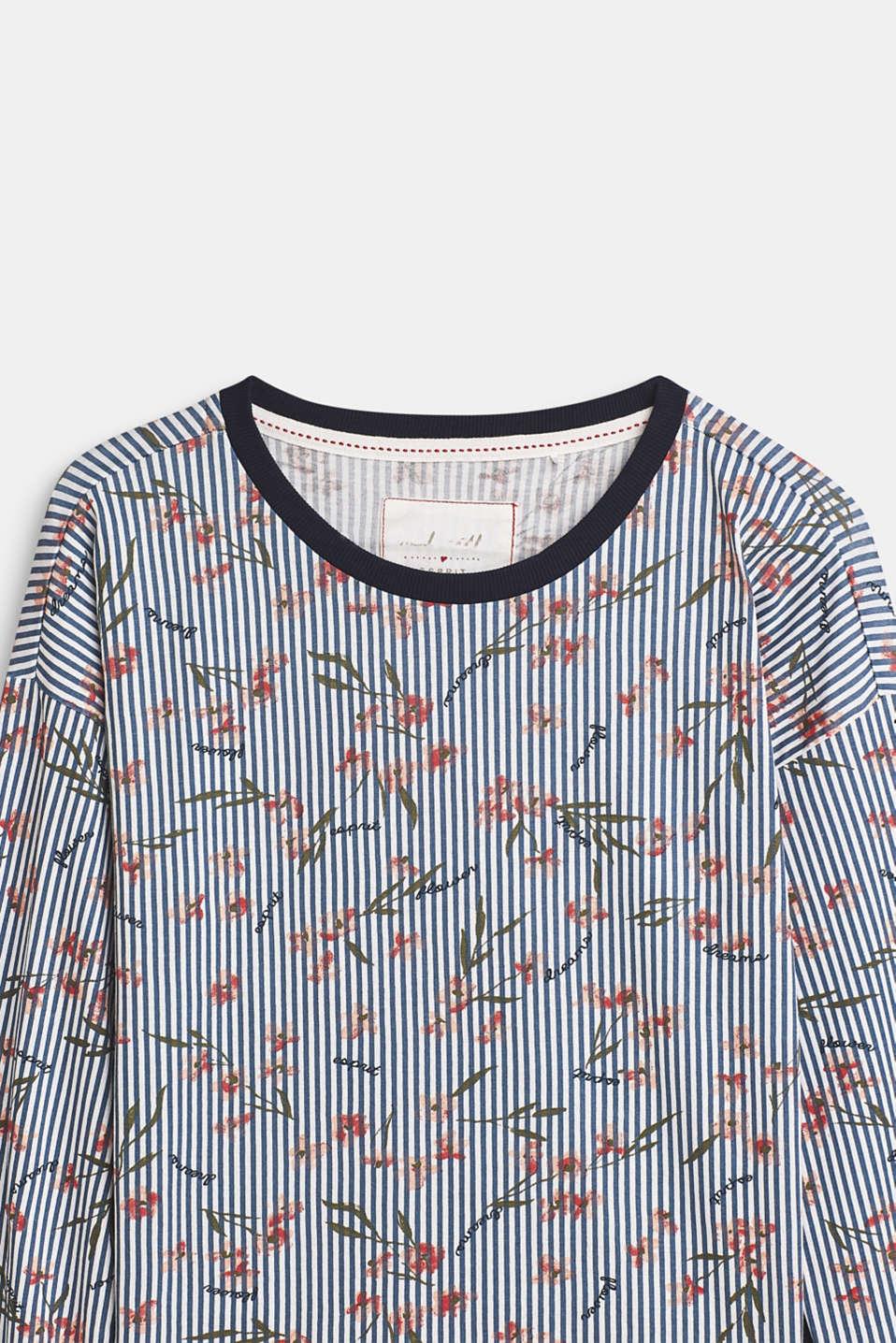 Printed jersey pyjamas, 100% cotton, NAVY, detail image number 3