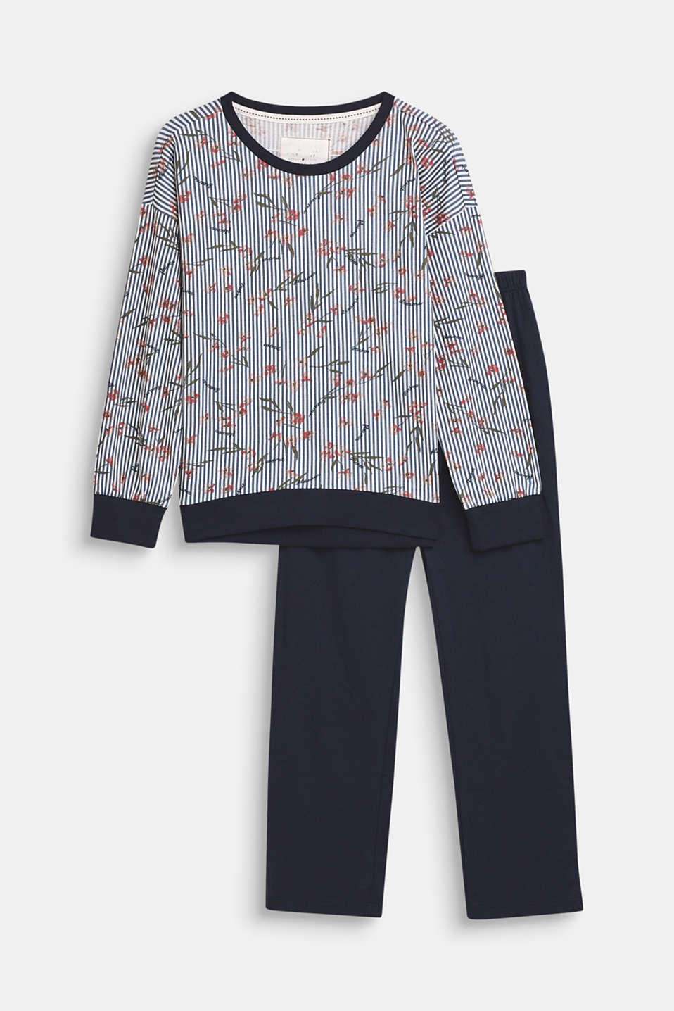 Printed jersey pyjamas, 100% cotton, NAVY, detail image number 0