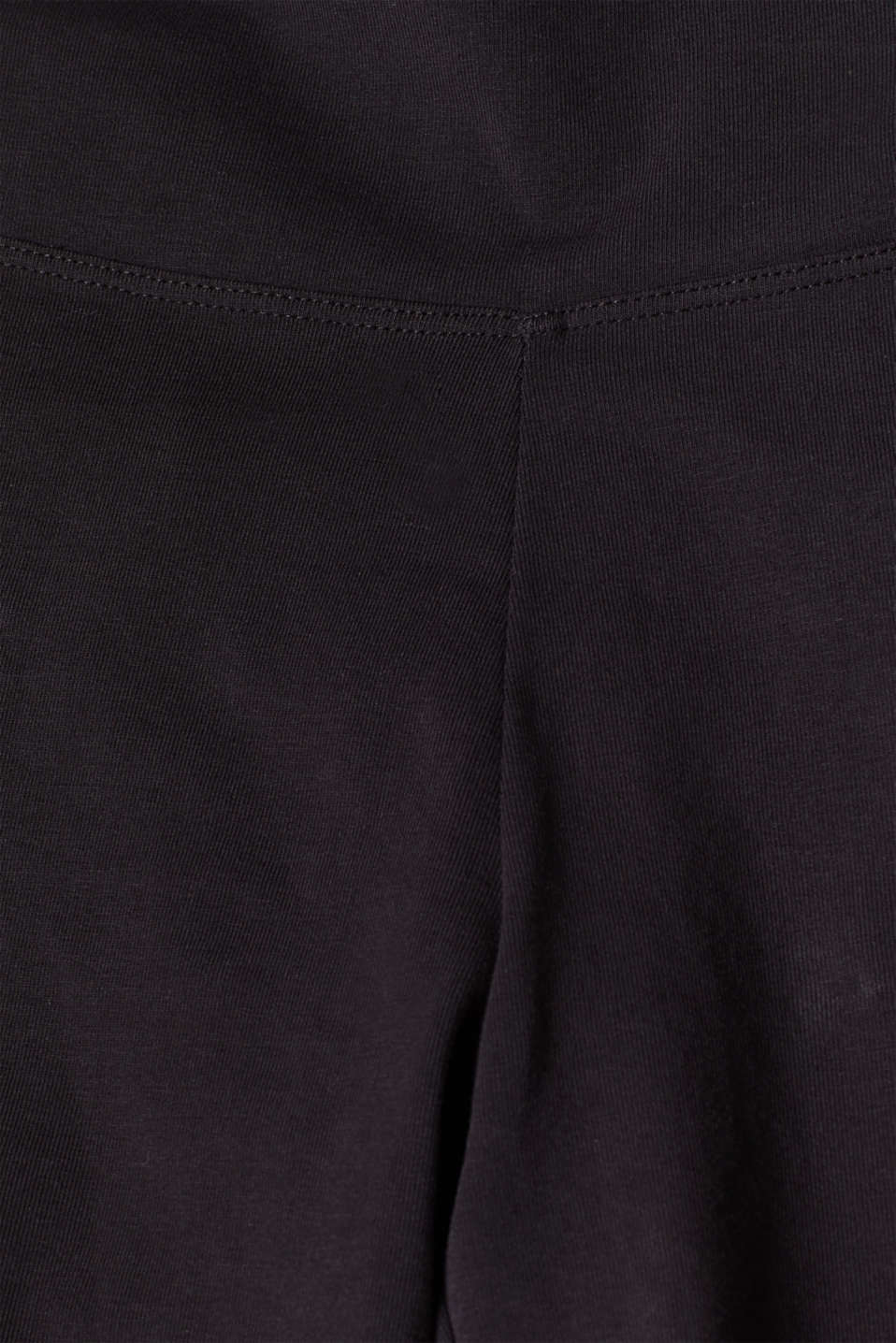 Pants knitted, BLACK, detail image number 4